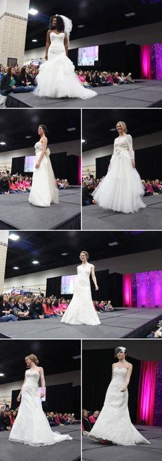 Fashion show by Wedding Wonderland at the Winter 2014 Knoxville Pink Bridal Show   The Pink Bride www.thepinkbride.com