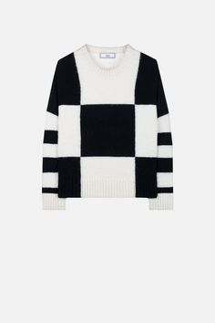 PULL OVERSIZE COL ROND GRAND DAMIER