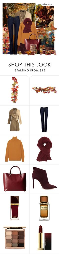 """Cozy Cashmere Sweater"" by dezaval ❤ liked on Polyvore featuring Nearly Natural, Lee, Chloé, Charlotte Russe, Meli Melo, Casadei, Tom Ford, Dolce&Gabbana, Stila and Kevyn Aucoin"