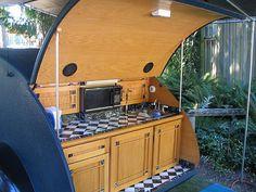 teardrop camper galley