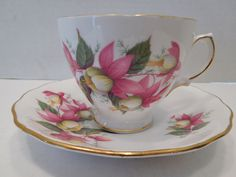 Vintage Royal Vale Bone China Made in England Tea Cup and Saucer in Antiques