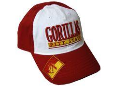 Pitt State Gorillas Adidas Slouch Hat - Red/White