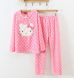Hello Kitty Flannel Autumn Leisure Wear Kitten Homewear Christmas Gift  $38.90  10% off discount code sweetbox for new arrivals