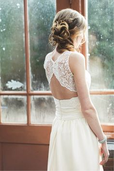 Lace back for a bridesmaid Lace Back Wedding Dress, Wedding Gowns, Lace Wedding, Dream Wedding, Yes To The Dress, Casual Wedding, Dream Dress, Wedding Bells, Marie
