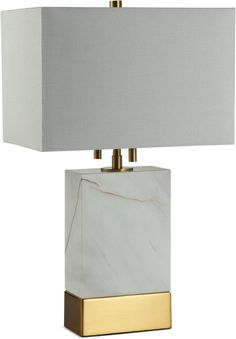 Decorator's Lighting Decorator's Lighting Rockport Rectangle Marble Table Lamp