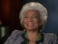 Nichelle Nichols....first female black actress on TV in an actual substantial role. Yes, young girls (of all races), you can make it to space.