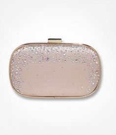 Express: Beaded Hard Case Clutch.  Reminds of the Aldo heels I pinned a while back.  Uber romantic and glam!