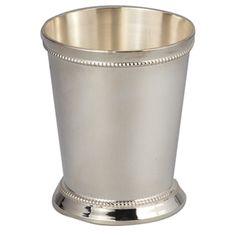 MINT JULEP CUPS, SILVERPLATED  3.5 oz. 2 3/4 high -  7.70, 6 oz 3,75 high 10.25
