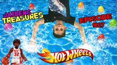 Hot Wheels Cars GIANT EGG SURPRISES  in POOL BATMAN Super hero kids video outdoor family fun 4 children toddlers watch JAY open all these cool GIANT EGG SURPRISES to see whats inside!!