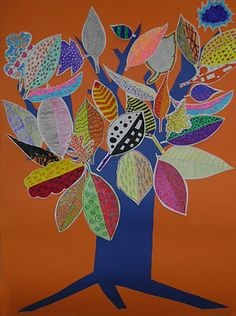 School Community Project: A leaf for every child, with different personal texture. This could also be used for a school ceramic mural in which each student created a leaf to include...tree of knowledge