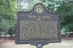 Historical Marker - Trail of Tears