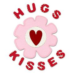 Sizzix Bigz Die - Phrase, Hugs & Kisses w/Flower $19.99