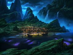"""MTG - Shadows Over Innistrad - Basic Land - Island"" by Andreas Rocha"