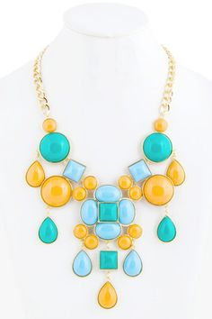 Large Orange Statement Necklace $28.50   E's Closet Boutique use the COUPON CODE 'sarahdr' for 5% off every order!! www.escloset.com/...
