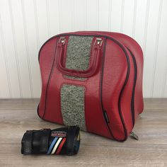 c1045b2202 Vintage Red Bowling Ball Bag with Wrist Guard Protector - Retro Bowling Bag  - Bowling Accessories Travel Bag - Made in USA by Brunswick