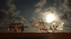 aviões estacionados em um porta-aviões