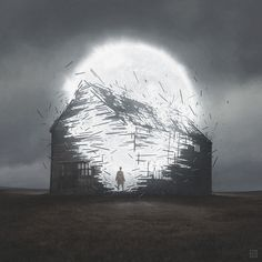 Yuri Shwedoff is an artist from Moscow, Russia, who creates beautiful digital paintings of a bleak, post-apocalyptic world.
