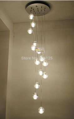 Modern LED Meteor Shower Crystal Chandelier Light Stair Light Fixtures 14-Head Guaranteed 100%+Free shipping!