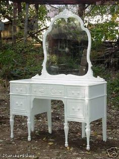 This is extremely similar to dd's shabby chic-ish vanity that we just got the other week. :)