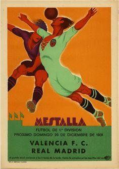 1931 ART DECO SOCCER MESTALLA RARE SPANISH POSTER BOLD MODERNIST VINTAGE FINEST | eBay