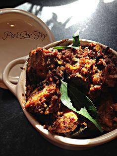 Pork Kalyana varattu      Panni peralan      Keralan Pork Stir fry    Kukskitchen