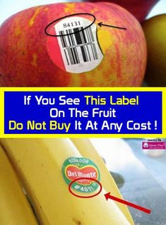 If you see this fruit sticker don't purchase it at any cost. Healthy Holistic Living, Healthy Living, Healthy Habits, Healthy Tips, Healthy Recipes, Healthy Foods, Healthy Choices, Stay Healthy, Healthy Weight