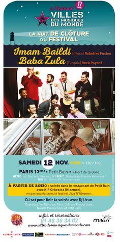 Paris 13eme, Metro Paris, Bus, Posters, Concert, Small Baths, World Music, Poster, Concerts