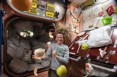 """Pinned from space by astronaut Karen Nyberg: """"The zest of Earth's goodness in space!"""""""