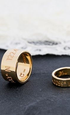His and her wedding bands from Coordinates Collection.