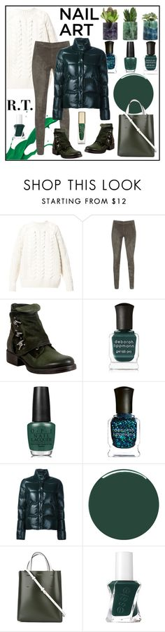 """R.T.-1740 Green With Envy: Wintery Nail Polish-6"" by sopo-davituri ❤ liked on Polyvore featuring beauty, Diesel, Joseph, Miz Mooz, Deborah Lippmann, OPI, Moncler, Smith & Cult, Marni and Essie"