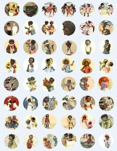 Oooo, they look like me!!!!  Free  Collage Sheets for Pendants | ROYALTY FREE PUBLIC DOMAIN CLIP ART COLLAGE SHEETS DIGITAL IMAGES FOR ...