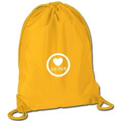 Running Sport Pack Cinch Sack - Love To Run #WomenGymBags
