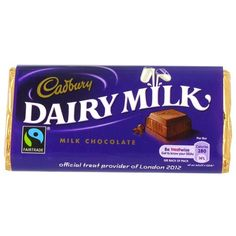 Cadbury Dairy Milk http://www.englishteastore.com/cadbury-dairy-milk-53g.html