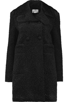 CARVEN Double-breasted padded faux shearling coat. #carven #cloth #coat