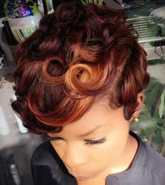 Hairstyles For Afro Hair Fall Hair Colors, Red Hair Color, Color Red, Short Red Hair, Short Hair Cuts, African Hairstyles, Afro Hairstyles, Black Hairstyles, Short African American Hairstyles