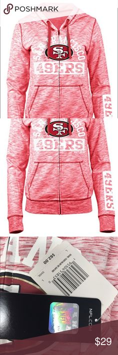 San Francisco Women's 49er Space Dye French Hoodie Brand New Officially Licensed with tags. Show your 9er love in this super soft, lightweight sporty galaxy dyed full zip hoodie.  60%cotton 405 poly. Team Apparel Tops Sweatshirts & Hoodies