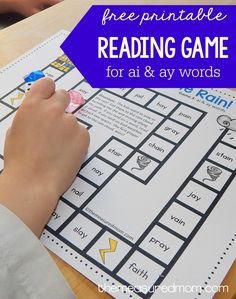 Simple follow the path game for teaching ai words and ay words
