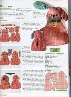 ARTESANATO COM QUIANE - Paps,Moldes,E.V.A,Feltro,Costuras,Fofuchas 3D: Coelho Porta Pijama
