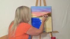 """Free Painting Lesson: """"How to"""" guided acrylic painting for beginners (Te..."""