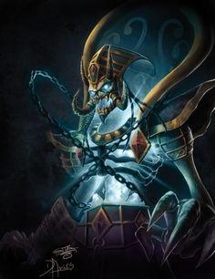 World of Warcraft - Kel Thuzad World Of Warcraft, Warcraft 3, Dark Fantasy Art, Fantasy World, Sylvanas Windrunner, Lich King, Death Knight, Heroes Of The Storm, Wow Art