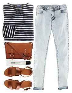 """""""Sin título #99"""" by maartinavg ❤ liked on Polyvore featuring J.Crew, H&M, Pietro Alessandro and Bobbi Brown Cosmetics"""