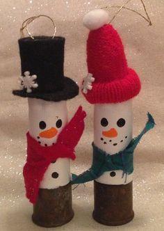 Shotgun Shell Snowman Christmas Ornament Duo by therobinsegg, $7.99