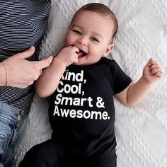 Baby E, Good Parenting, Healthy Kids, Boy Fashion, Cute Kids, Little Ones, Onesies, Design Inspiration, T Shirt