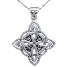 Jewelry Trends Sterling Silver Celtic Spiritual Trinity Symbol Necklace