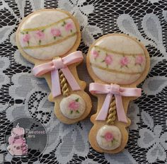 Antique Cracked Porcelain Baby Rattle Cookies - One Dozen Decorated Sugar Cookies on Etsy, $72.00