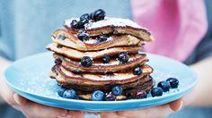 Heidelbeer-Pancakes ohne Mehl