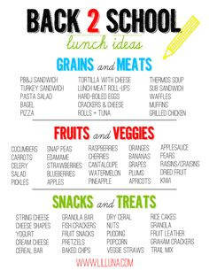 Great Back 2 School Lunch Ideas on { lilluna.com }
