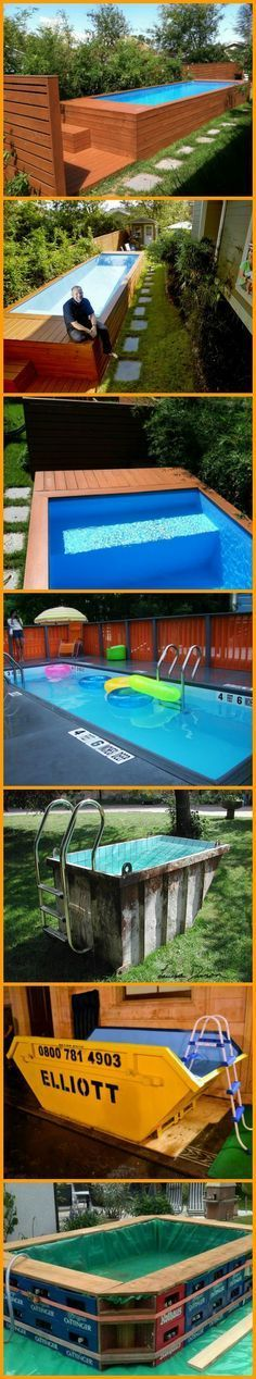 These clever people are using shipping containers, dumpsters and rubbish skips to create family pools at low cost. And you can take them with you if you move! Here are the pools they made --> theownerbuilderne. Building A Container Home, Container Buildings, Container Architecture, Container Design, Container Cabin, Shipping Container Pool, Shipping Containers, Family Pool, Cool Pools