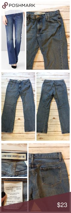 """GAP low rise bootcut jean Medium wash denim in GAP low rise, boot cut style. Size 12R, 16.5"""" waist and 30.5"""" inseam. 100% cotton. GAP Jeans Boot Cut"""