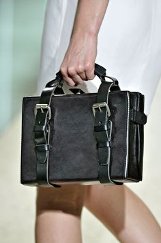 ACNE Spring 2012 - boxy tote with strap design, creates an S edge